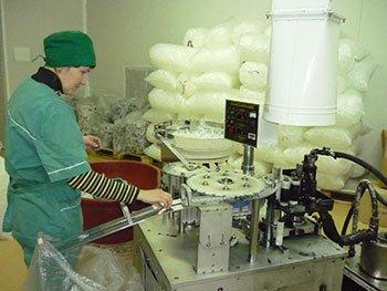 Производство одноразовых шприцов